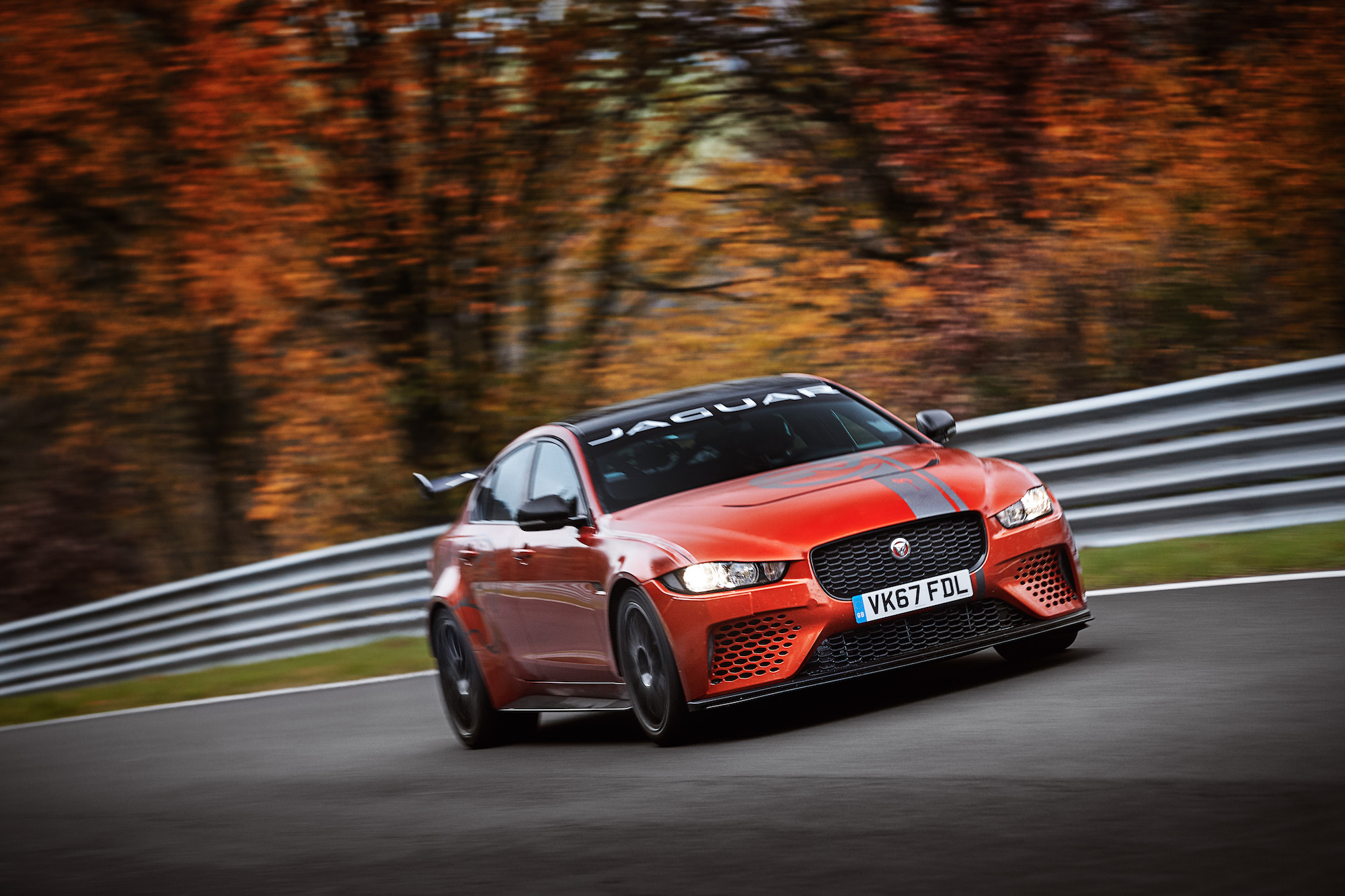 Jaguar XE SV Project 8 sets fastest saloon lap record on Nürburgring