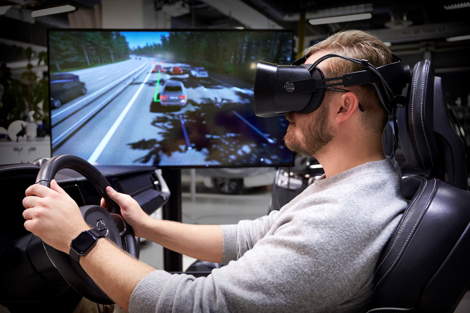 Volvo Cars uses latest gaming tech to develop mixed-reality driving simulator
