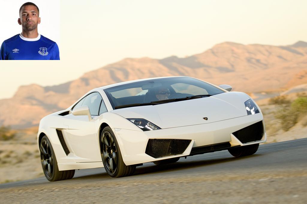 Picture of his Lamborghini Gallardo   car